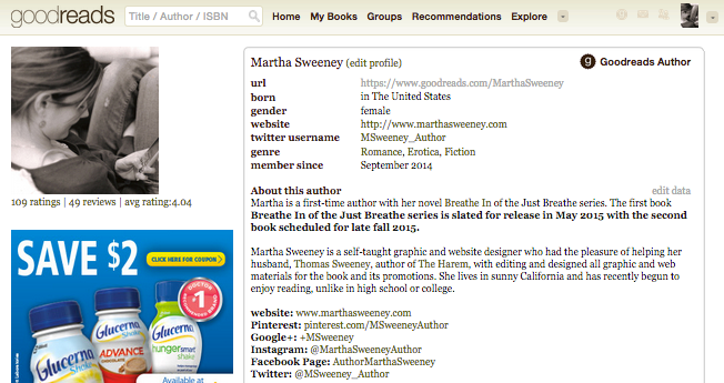 Connect with Martha on Goodreads.com