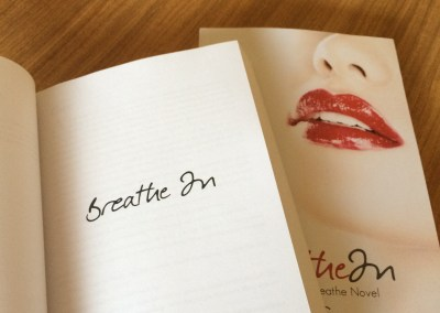 Paperback copy of Breathe In by Martha Sweeney