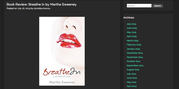 Breathe In's Second Book Blog Review