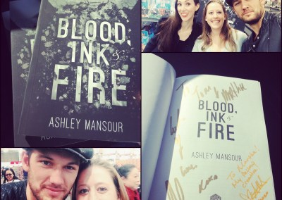 Blood Ink Fire book signing with Ashley Mansour Martha Sweeney and Alex Pettyfer
