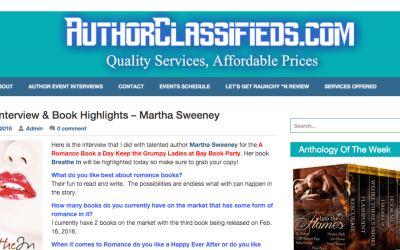 Author Interview Thanks to AuthorClassified.com