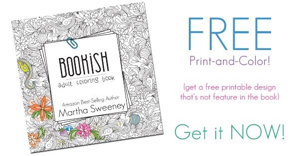 Free Print and Color Design from Bookish: Adult Coloring Book by Martha Sweeney