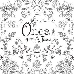 Bookish: Adult Coloring Book by Martha Sweeney once upon a time coloring page