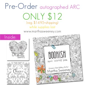 Pre-Order an ARC of Bookish: Adult Coloring Book by Martha Sweeney