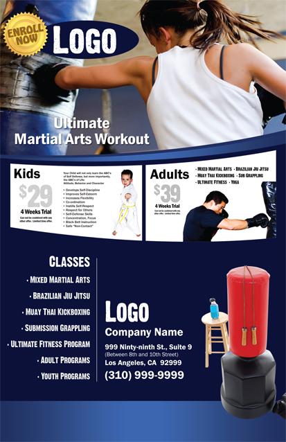 Martial Arts Flyer 85 X 55 MA000502