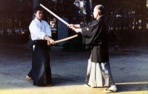 Kisshomaru Ueshiba e Moriteru Ueshiba