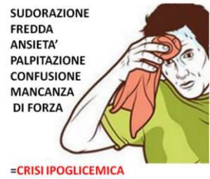 Sintomi crisi ipoglicemica