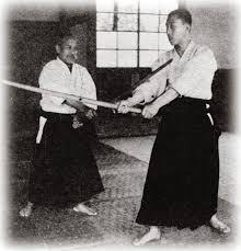 Morihei Ueshiba e Zenzaburo Akazawa