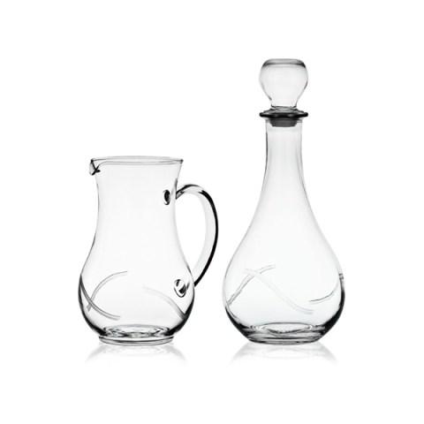 Brocca e Bottiglia Moderno con Incisione Minu