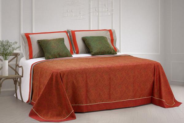 coordinato letto copriletto matrimoniale rifinito balza coppia lenzuola coppia cuscini