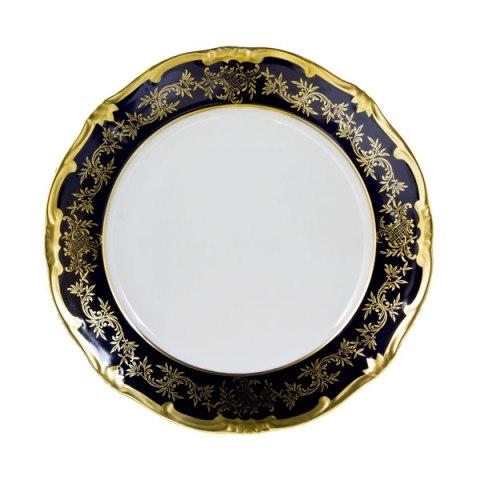 Set piatti porcellana made in Germany decorazione a mano oro e cobalto - Caterina