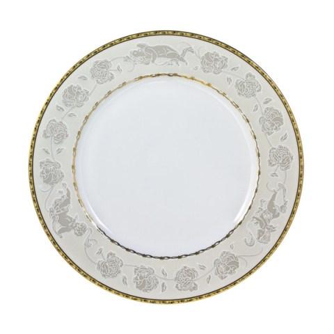 Piatto singolo in porcellana con decoro Angeli filo oro