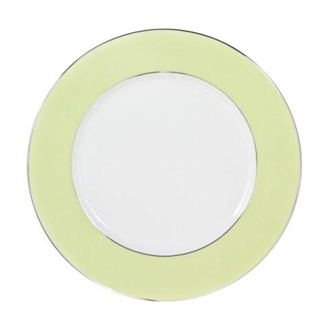 Piatto singolo in porcellana con decoro Verde Sharm