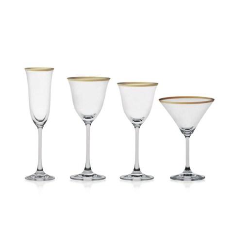 Servizio di Bicchieri stile Classico con elegante Decoro Filo Oro