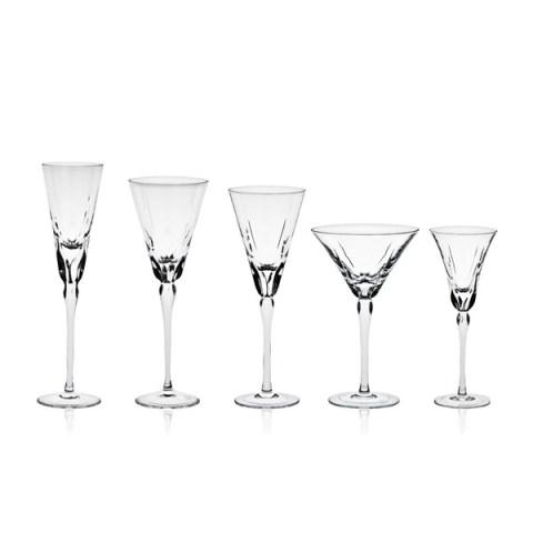 Servizio di Bicchieri modello Moderno in Cristallo con Incisione realizzata a mano Lory T