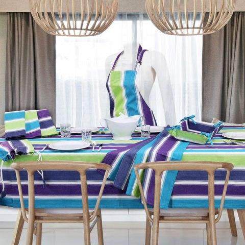 Tobago Completo di Tovaglie design moderno e colorate in tessuto di puro cotone
