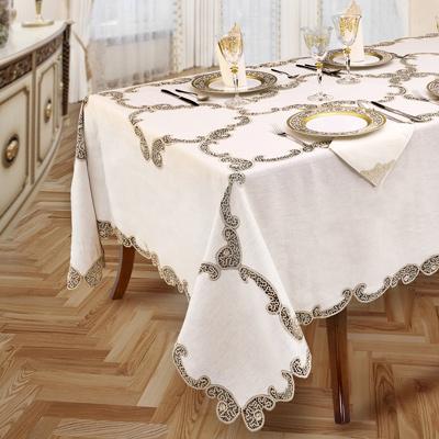 Tovaglia da tavola con pizzo tombolo ecru - Fabrizia