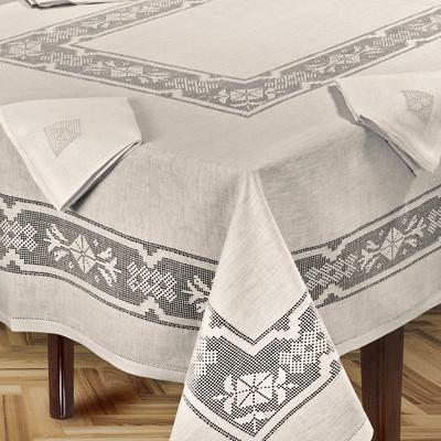 tovaglia tavola in puro lino sfilato a mano - ginevra