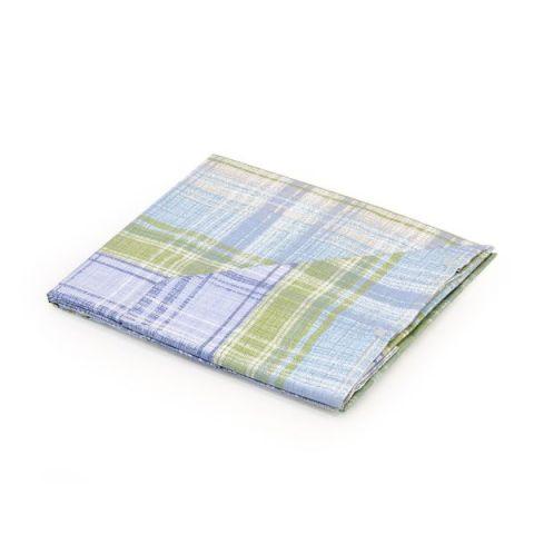 Coppia lenzuola Blu quadroni scozzese 1 piazza Alicante
