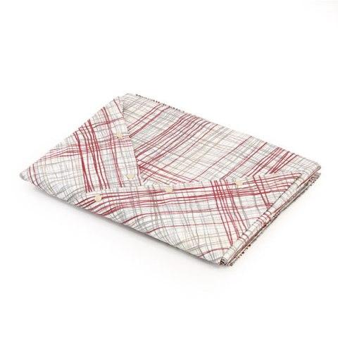 Coppia lenzuola in cotone matrimoniale con disegno bordo e sabbia - Siviglia
