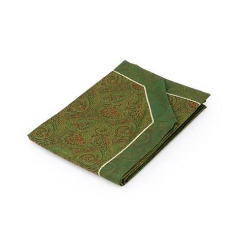 Copriletto composè cashmere variante verde