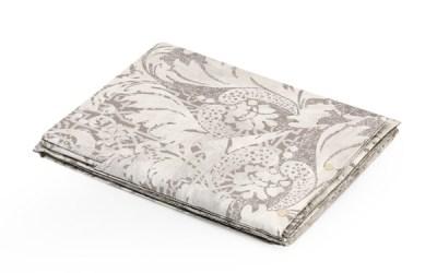 Coppia lenzuola con motivo Floreale colore Beige in cotone - Malaga