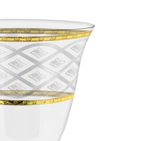 Servizio bicchieri con incisione e decorazione oro Carisma