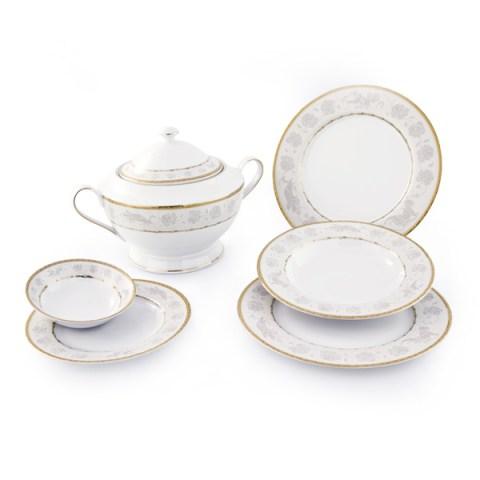Servizio piatti decoro oro angeli fine porcellana