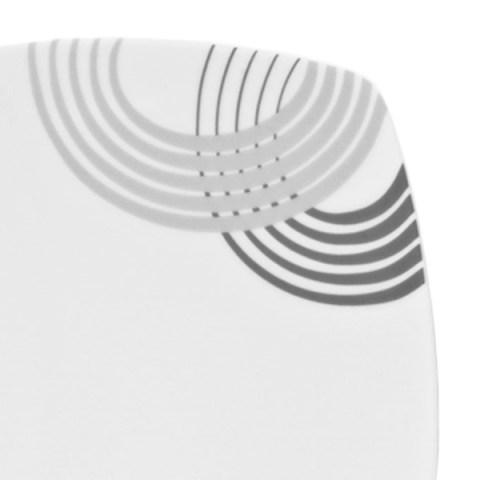 Set piatti quadrati grigio - Cosmo
