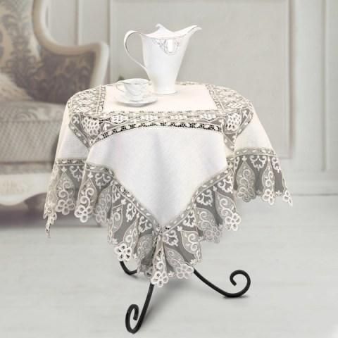 Tovaglietta the in lino pizzo argento - Chantal