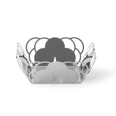 Cestino specchio design elegante acciaio cosmo