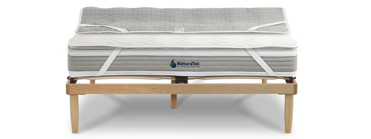 Coprimaterasso matrimoniale fibra argento antibatterico resistat - Naturatek