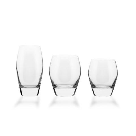 Servizio bicchieri basso forma bombata liscia 38 pezzi - Michelle