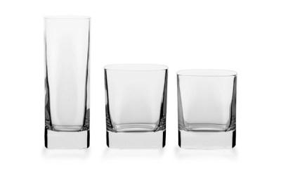 Servizio bicchieri quadrato moderno - Cosmo