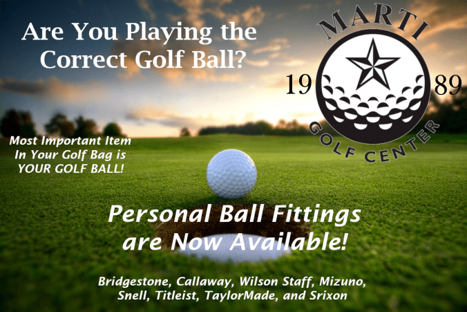 Ball Fittings are now available at Marti Golf Center in Houston, TX.
