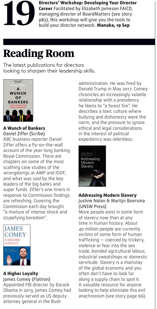 Company Director Magazine – Book Review: Addressing Modern Slavery