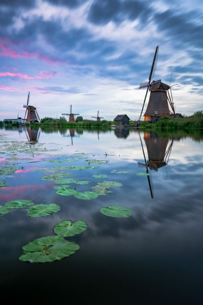 Kinderdijk windmills - magical sky