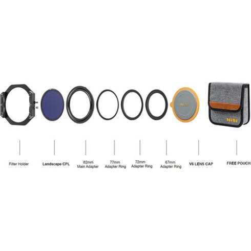 Nisi V6 filter kit contents