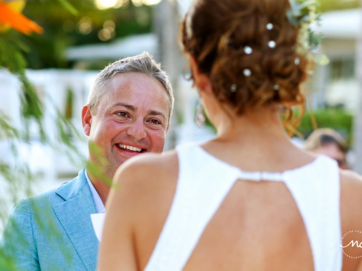 Vows at Blue Diamond Riviera Maya Beach Wedding in Mexico. Martina Campolo Photography