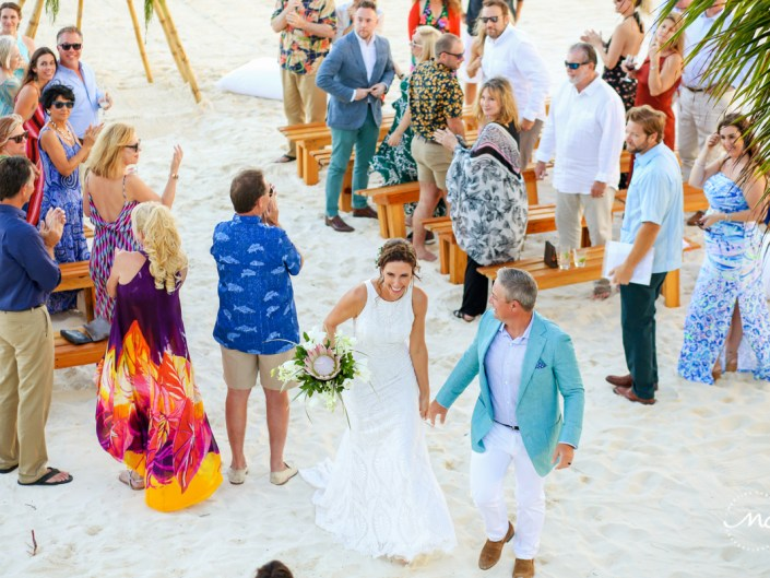 Intimate Blue Diamond Riviera Maya Beach Wedding in Mexico. Martina Campolo Photography