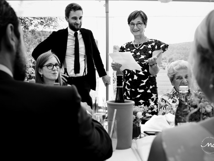Wedding speeches. Heidelberg Wedding in Germany. Martina Campolo Photography