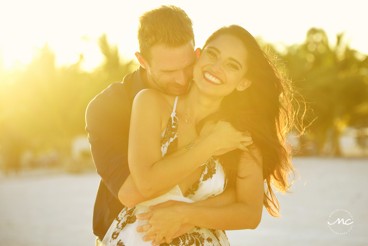 Chable Maroma Engagement Session. Martina Campolo Photography