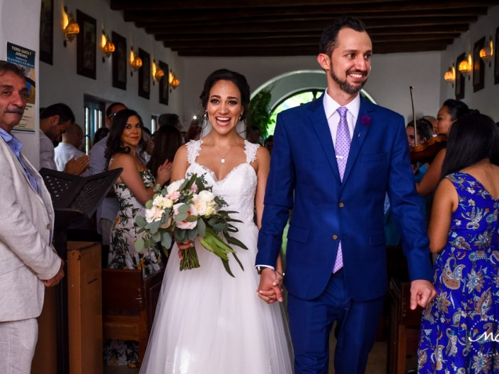 5th Ave chapel wedding in Playa del Carmen, Mexico. Martina Campolo Photography