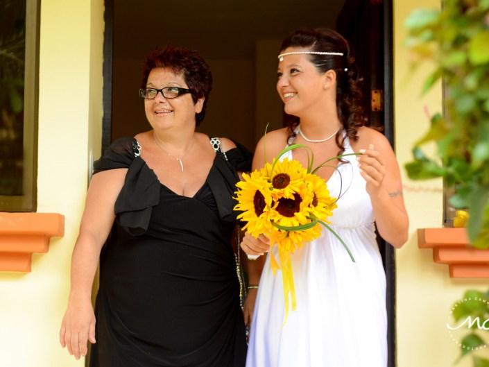 Bride and mother. Costa Rica Destination Wedding by Martina Campolo Photography