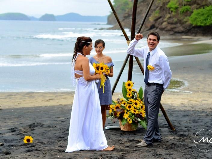 Bride and groom. Costa Rica Beach Destination Wedding. Martina Campolo Photography
