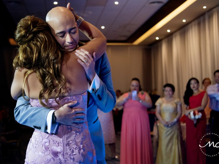 Groom and mother dance. Royalton Riviera Cancun Gay Wedding. Martina Campolo Photography