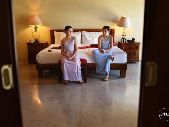 Getting ready moment at Hacienda del Mar, Riviera Maya, Mexico. Martina Campolo Wedding Photography