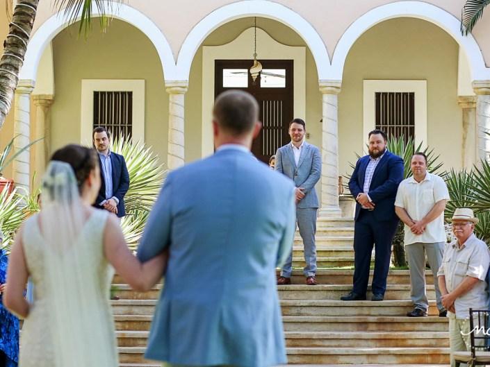 Here comes the bride. Hacienda del Mar destination wedding in Mexico by Martina Campolo Photography