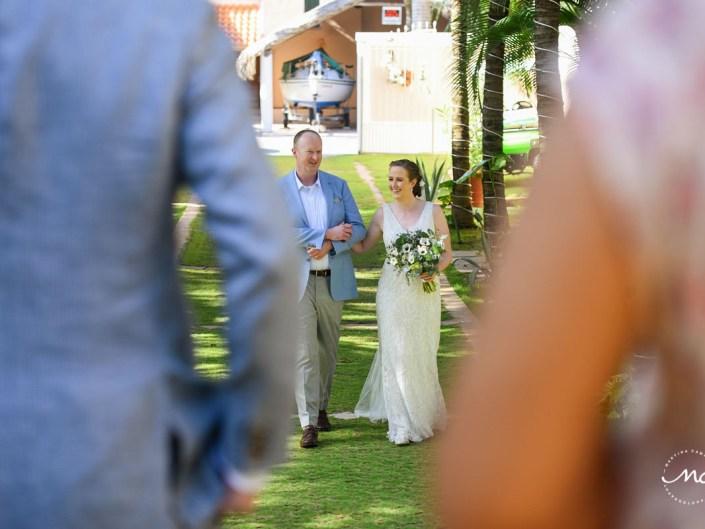 Destination bride entrance at Hacienda del Mar wedding in Riviera Maya, Mexico. Martina Campolo Photography