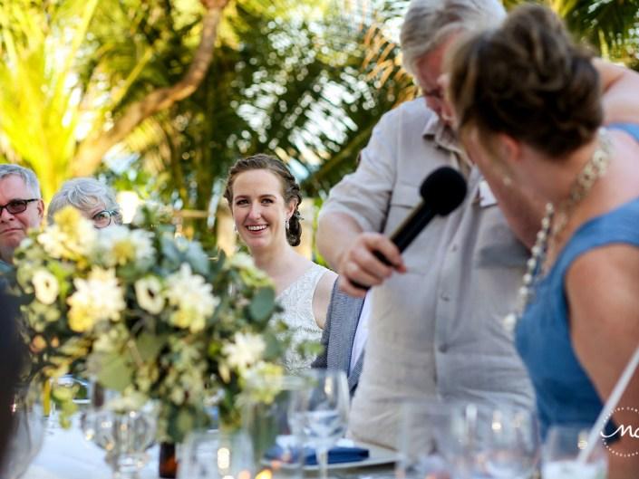 Wedding speeches. Hacienda del Mar destination wedding in Riviera Maya, Mexico. Martina Campolo Photography